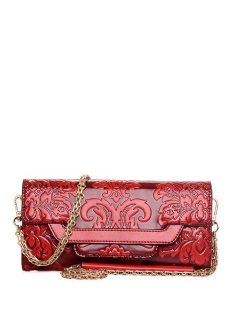 Chaînes Floral gaufrage Sac bandoulière - Rouge  Mobile