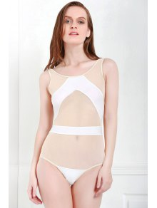 Voile Splicing One-Piece Swimwear