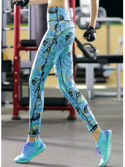 Printed Skinny Ankle Pants от Zaful.com INT
