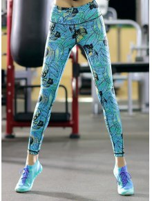 Printed Skinny Ankle Pants