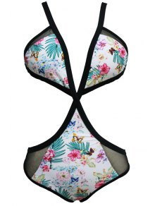 Floral Print Cami One-Piece Swimwear