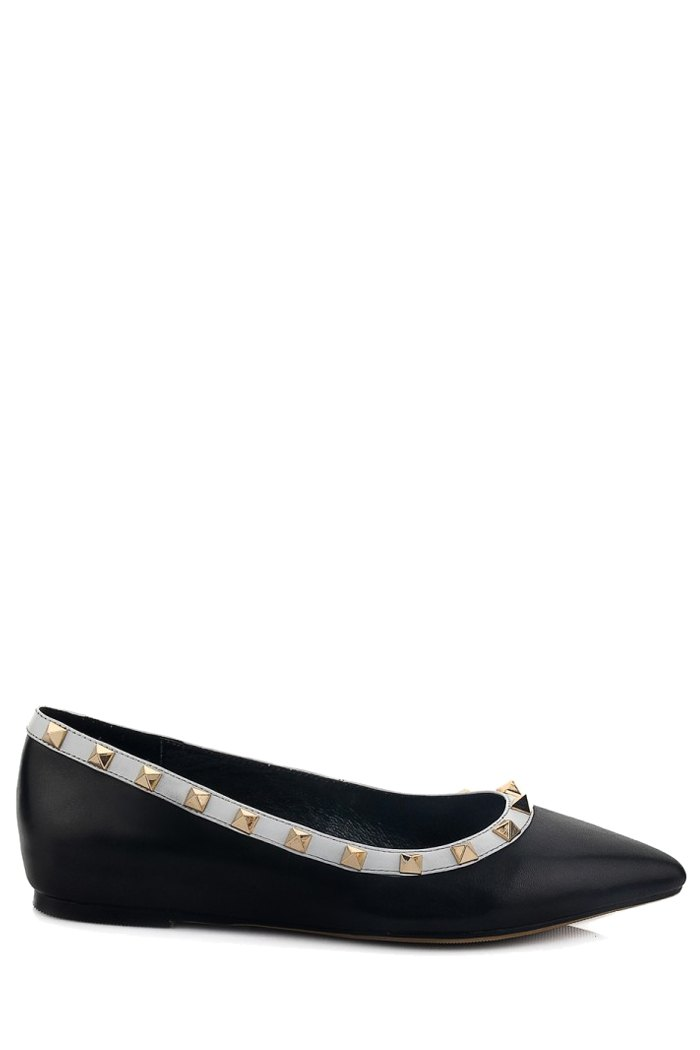 Rivets Design Flat Shoes For Women