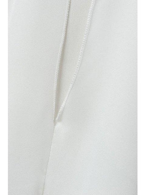 Double couche Bow Collar Chemise sans manches - Noir M Mobile