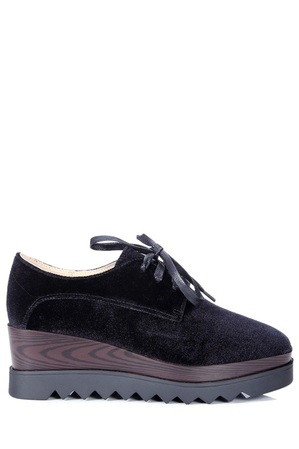 Square Toe Design Platform Shoes For Women