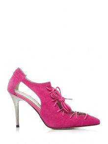 Buy Cross-Strap Solid Color Pointed Toe Pumps 36 ROSE
