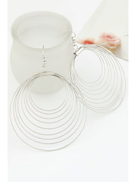 Round Multilayered Earrings - SILVER  Mobile