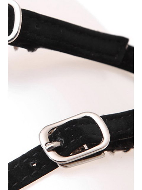 affordable Beading Buckles Stiletto Heel Sandals - BLACK 36 Mobile