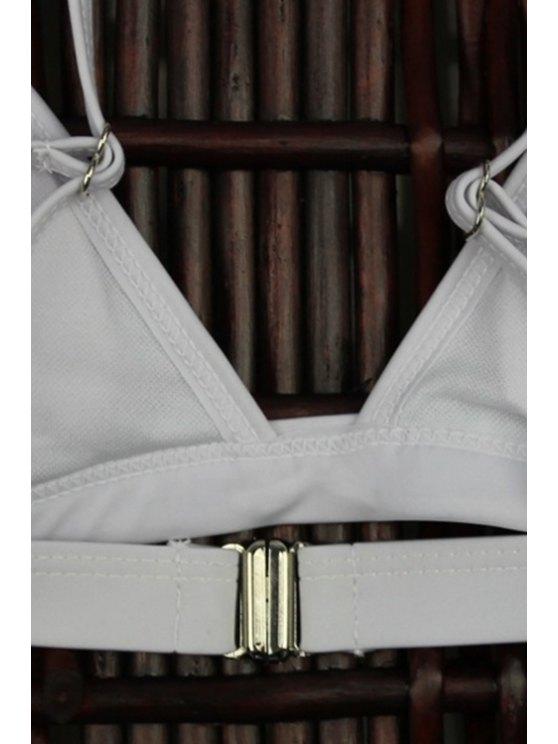 High-Cut Leaf Print Bikini Set - COLORMIX S Mobile
