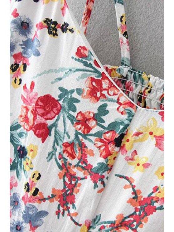 Floral Print Cami Dress - PURPLISH BLUE L Mobile