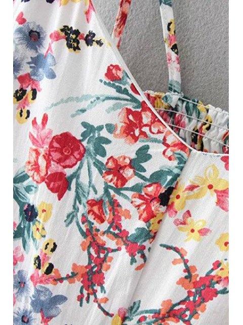 best Floral Print Cami Dress - PURPLISH BLUE L Mobile