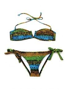Bandeau Halter String Bikini Set