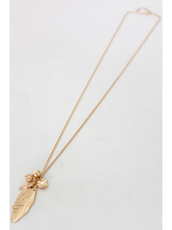 Solid Color Leaf Sweater Chain -   Mobile