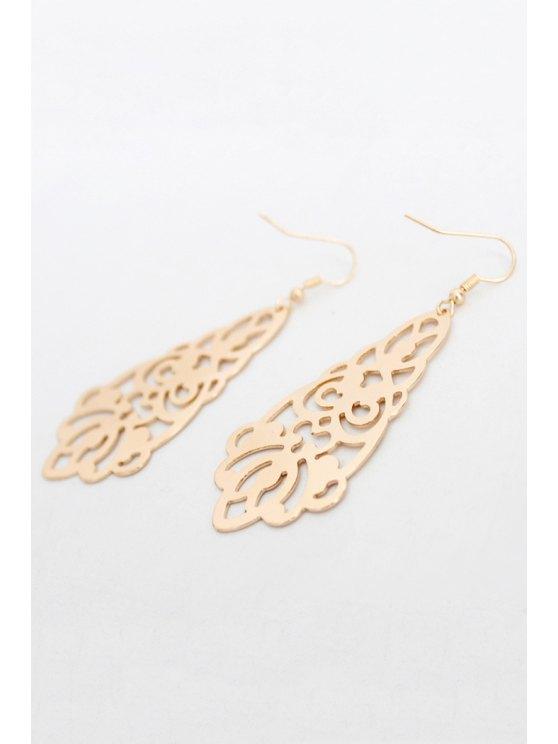 Flower Hollow Out Earrings - GOLDEN  Mobile