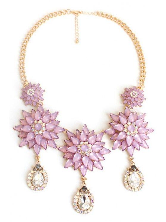 Exquisite Floral Pendant Necklace -   Mobile