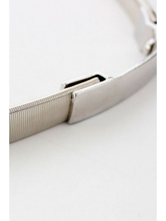 Simple Style Alloy Belt - SILVER  Mobile