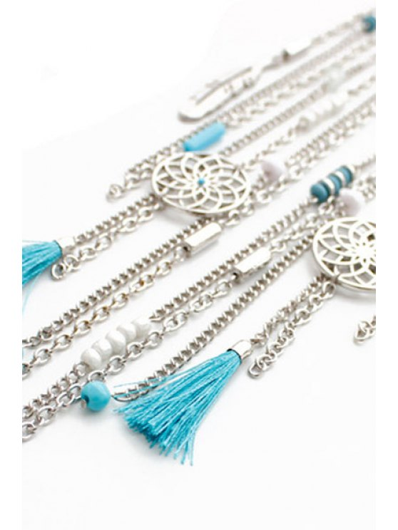 Ethnic Style Link Chain Tassel Necklace -   Mobile