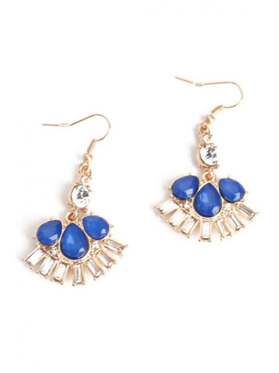Boucles d'oreilles en cristal Délicat Fleur Faux - Bleu
