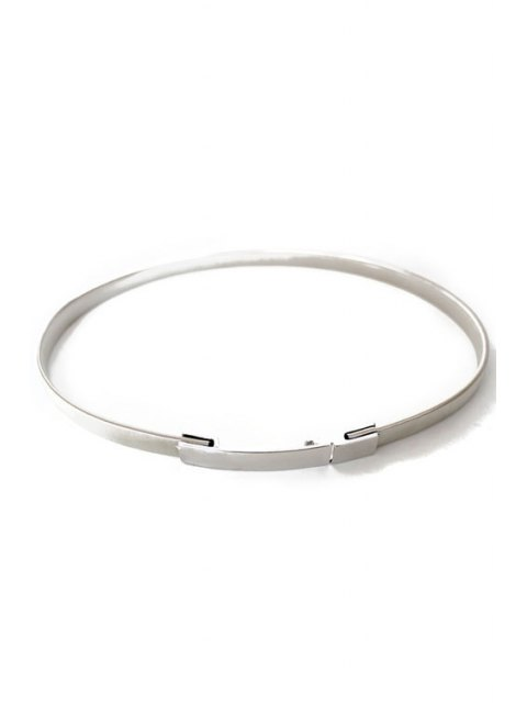 womens Simple Style Alloy Belt - SILVER  Mobile