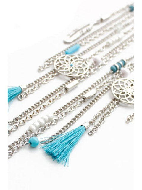 shop Ethnic Style Link Chain Tassel Necklace -   Mobile