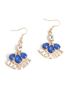 Delicate Flower Faux Crystal Earrings