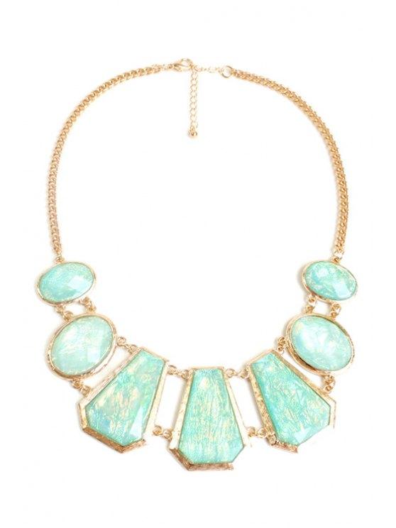 Geométrica collar de piedras preciosas de imitación - Dorado