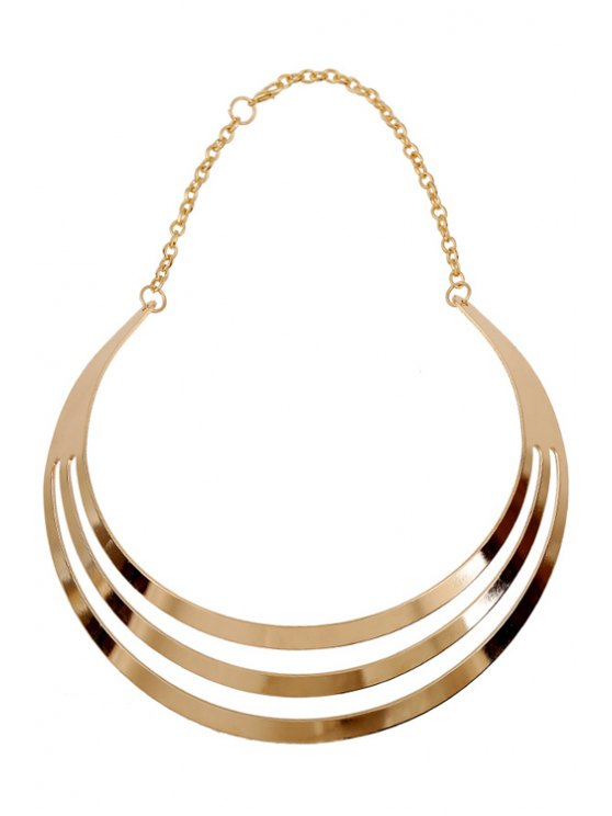 Mirror Side Multilayered Necklace -   Mobile