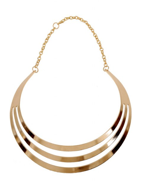 trendy Mirror Side Multilayered Necklace -   Mobile