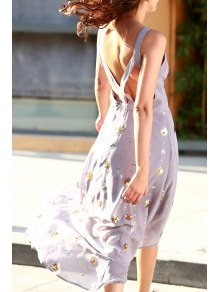 Bohemian Cutout Beaded Fall Love Dress