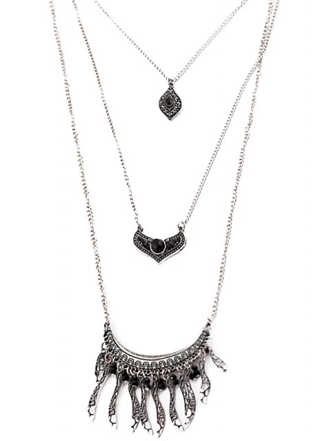 lady Multi-Layered Leaf Necklace -   Mobile