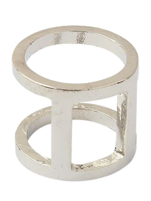 buy Two Layered Arthrosis Ring - SILVER ONE-SIZE Mobile