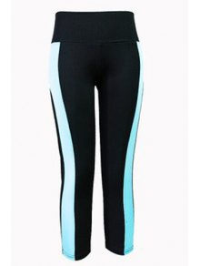 Color Block Capri Tight Pants