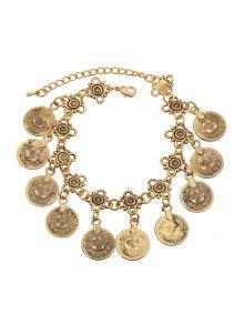 Alloy Coin Tassel Bracelet