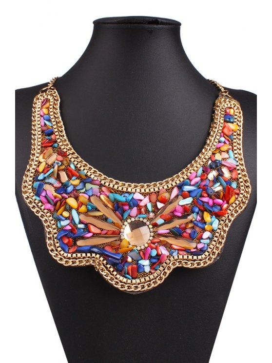 Retro Shell Fake Collar Necklace -   Mobile