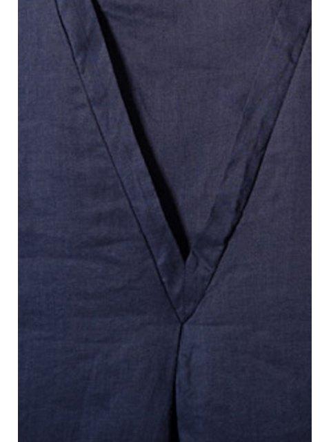 women's Smock Oversized V Back Dress - DEEP BLUE 2XL Mobile