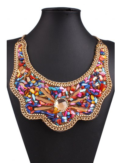 Retro Shell Fake Collar Necklace - COLORMIX  Mobile
