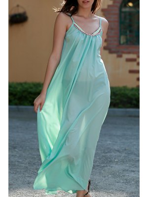 Carter Splice Cami Backless Maxi Dress - Turquoise