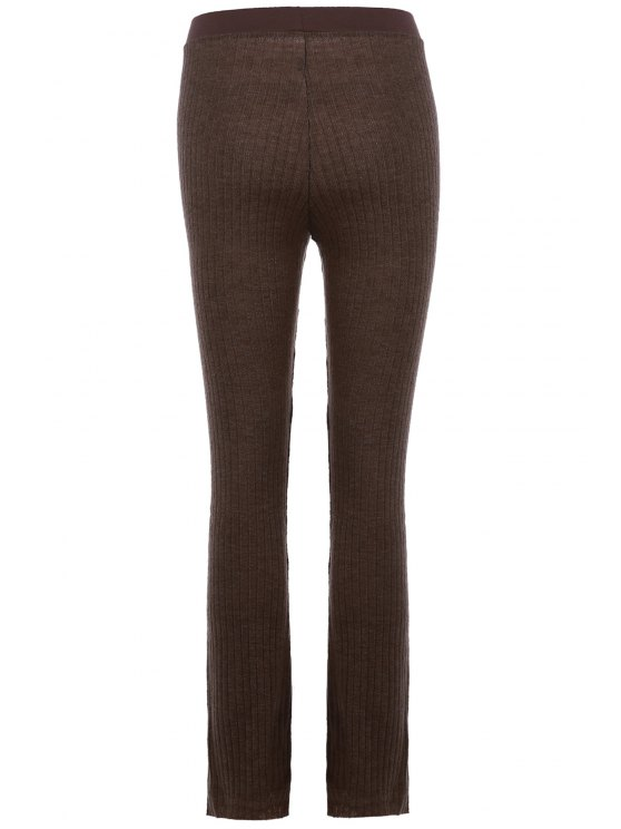 Low Waisted Solid Color Bell Bottom Pants - DUN M Mobile