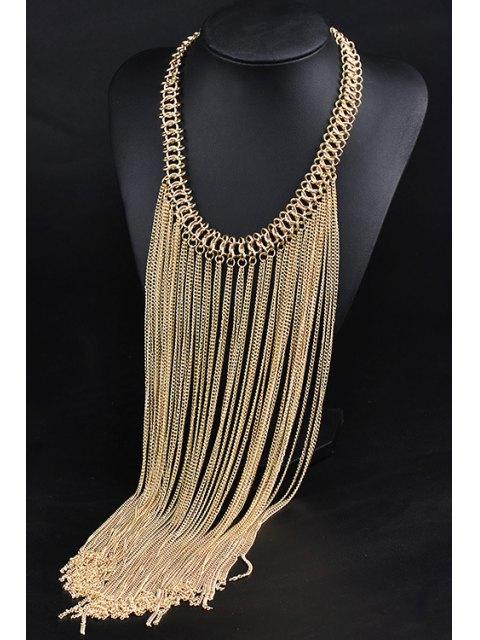 buy Link Chain Fringed Necklace - GOLDEN  Mobile