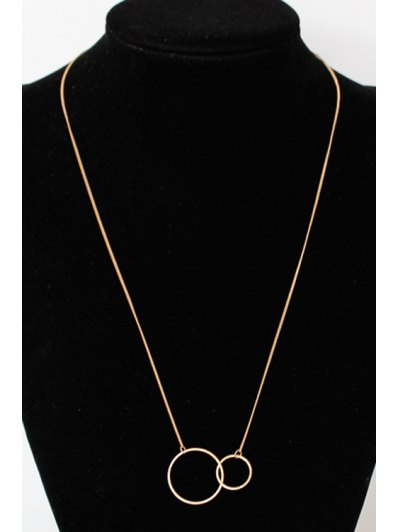 Round Pendant Necklace - GOLDEN  Mobile