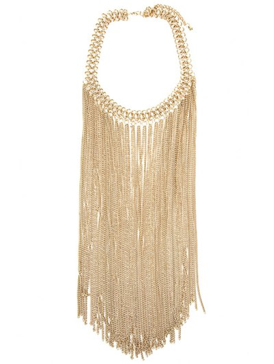 Trendy Simple Style Link Chain Tassel Necklace For Women