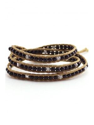 Bead Multi-Layered Wrap Bracelet - Black