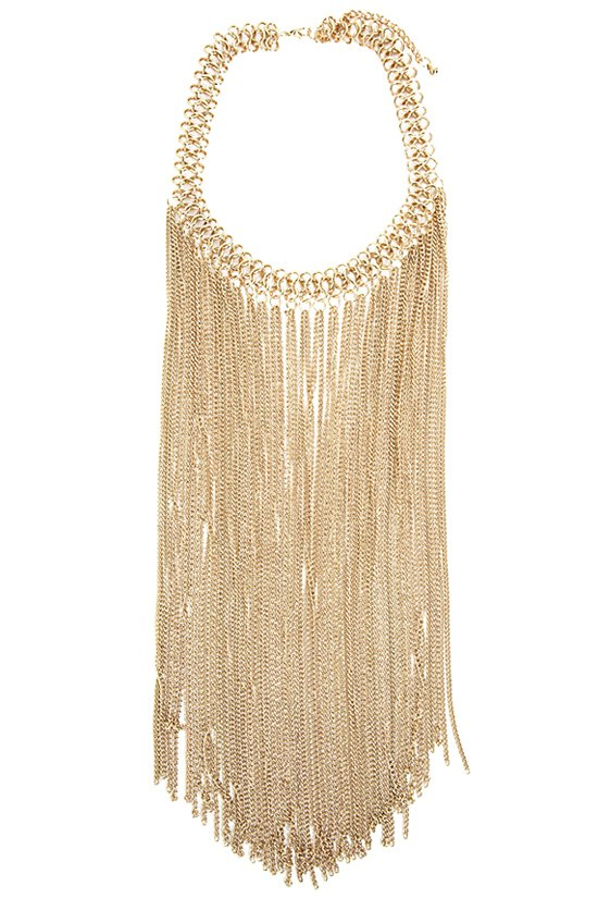 Link Chain Fringed Necklace 173092301