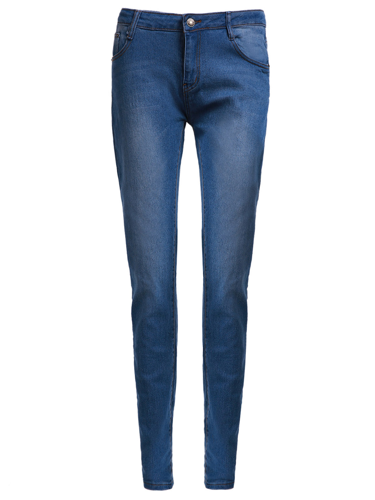 High-Waisted Zipper Embellished Stylish Slimming Pencil Jeans For Women