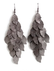 Exquisite Multi-Layered Leaf Shape Earrings
