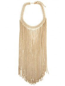 Link Chain Fringed Necklace