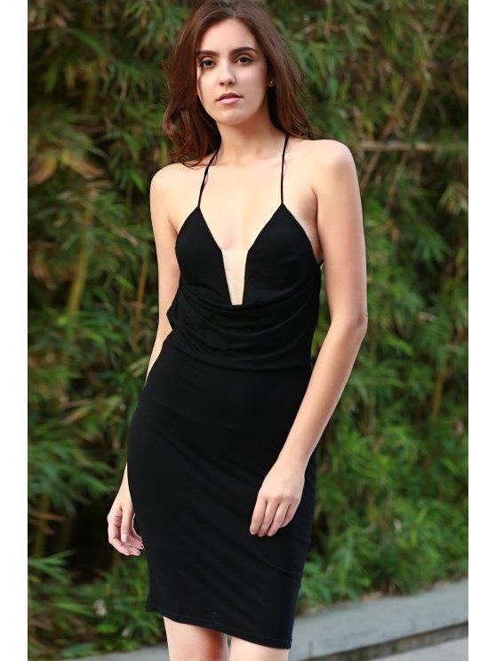 Black Cami Bodycon Dress - BLACK XL Mobile