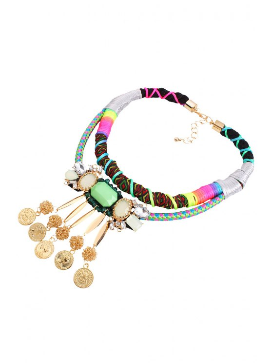 Bohemia Multilayered Coin Fringed Necklace - COLORMIX  Mobile