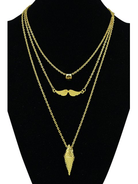 online Three Layered Necklace - GOLDEN  Mobile