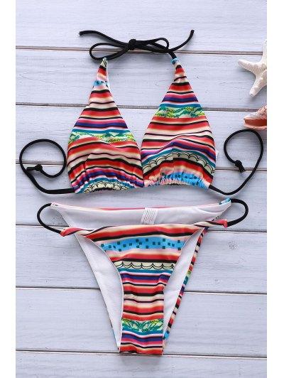 Printed Halter Sexy Women s Bikini Set
