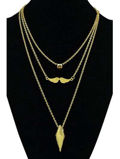 Three Layered Necklace - GOLDEN  Mobile